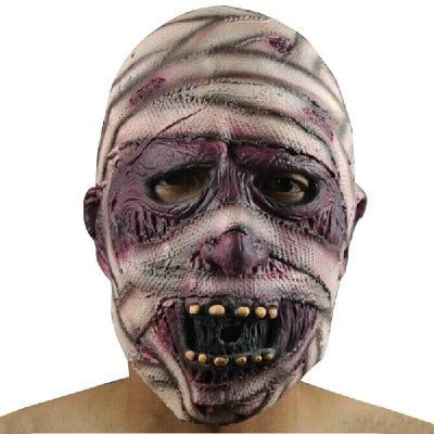 Just US$8.25, buy Yeduo Latex Rubber Grimace Monster Mummy Mask for Adults Halloween Party Supplies online shopping at GearBest.com Mobile.