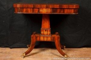 Rosewood Furniture Single Regency Games Card Table Occasional Side Tables