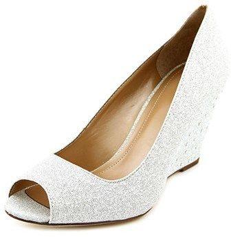 Style&Co. Style & Co Cecelie Women Open Toe Canvas Silver Wedge Heel.