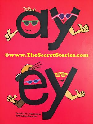 """SECRET STORIES® .....ey & ay are just """"too cool"""" (like The Fonz!) and always stick up their thumbs and say- """"aaaaaayyyyyyyyyyyeee"""" (they, play, today)"""
