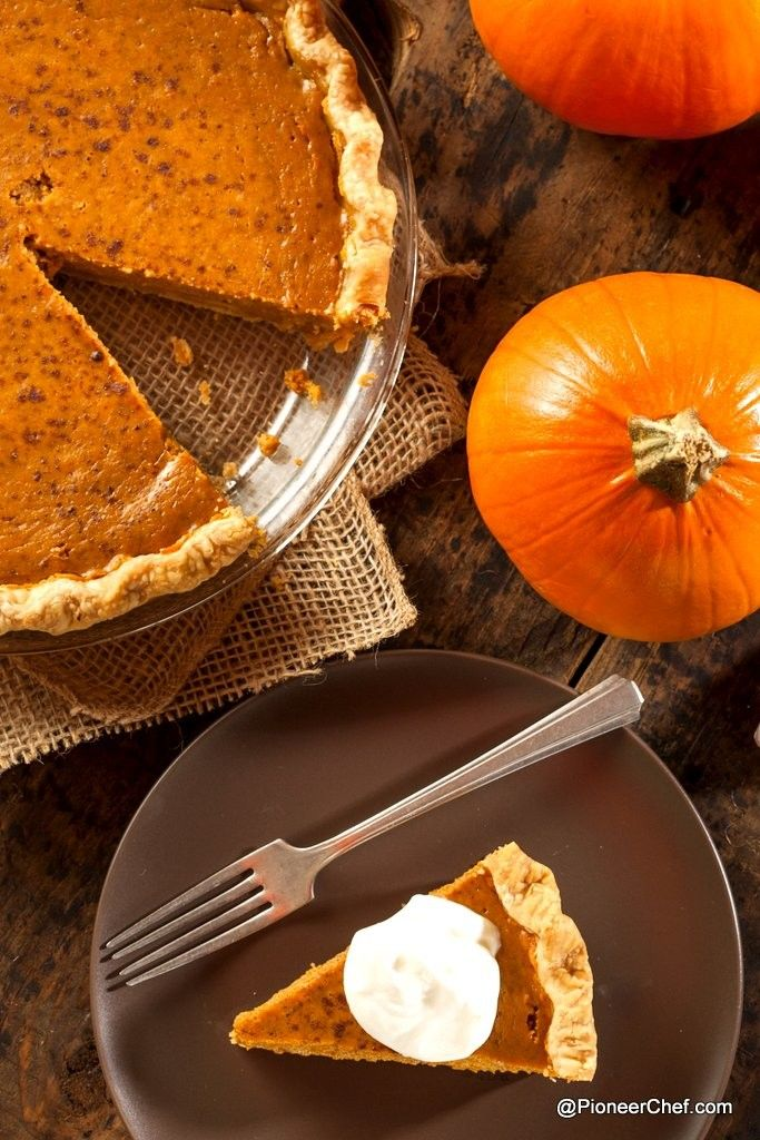 Make this Thanksgiving feast special with home-made Pumpkin Pie. We tell you how. Total Time: 3 hr 50 min Prep: 35 min Let cool: 1 hr Cook: 2 hr 15 min Servings:8 Pumpkin Pie Crust: 2 cups flour (all purpose). Keep some for flouring 1/4 tsp salt 11 tbsp or 2/3 cup of cold unsalted butter. Pumpkin: 1 medium pumpkin (about 3 pds or 1.3 kgs) 1 tbsp canola oil Filling: 400 gms sweetened condensed milk 1/2 cup whipping cream 2 tbsp corn starch 2 tbsp molasses (or black treacle; 'raab' in hindi)…