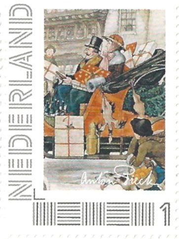 Netherlands - Stamp 2012, Anton Pieck, Kerstinkopen, Christmas Shopping 1