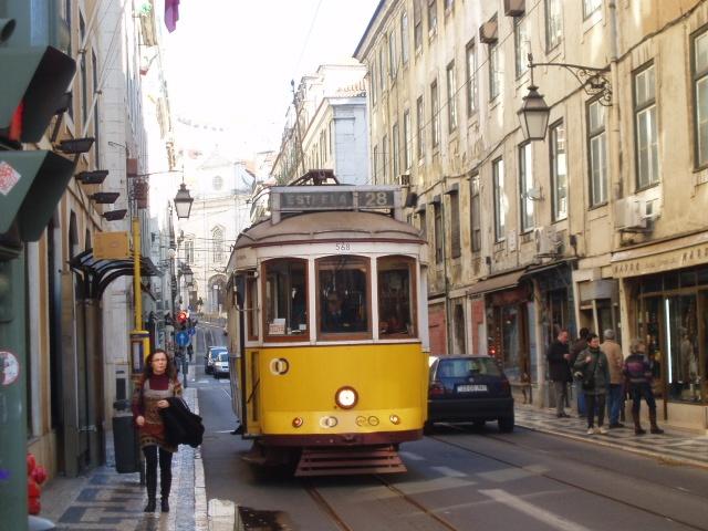 Lisbon, Portugal:  Trolley Cars,  Tramcar