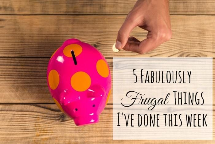 Five Frugal things I've done this week {15 January 2016}….