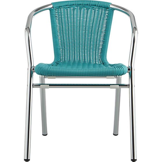 rex turquoise chair | CB2
