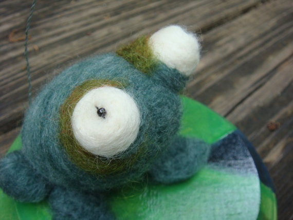 Soft Sculpture of Cute Toad and Fly hanging out on by uglyclothes, $40.00
