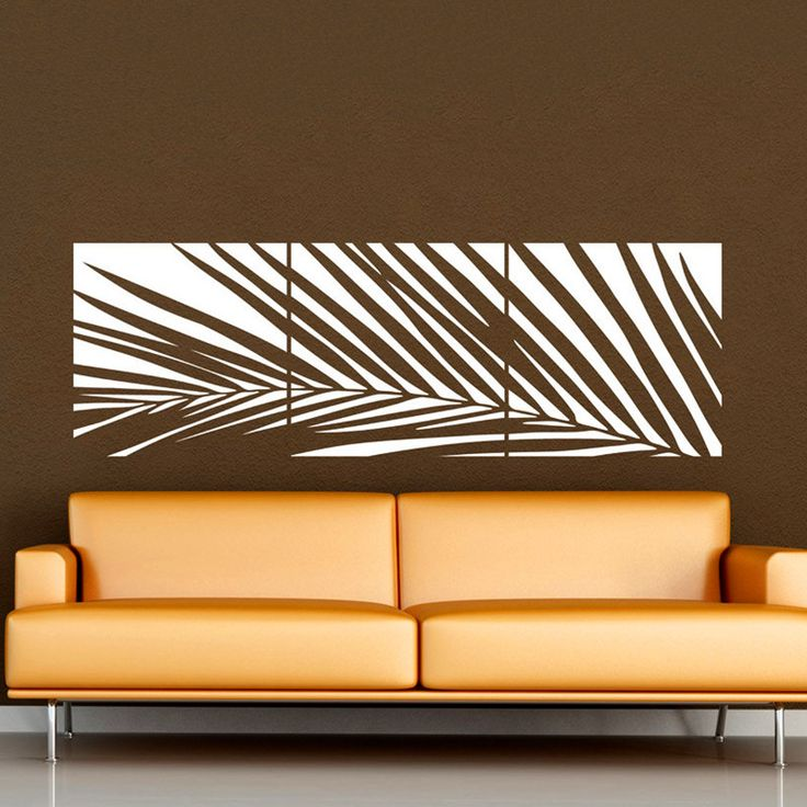 Huge White Palm Tree Wall Decal Vinyl Sticker   Custom Any Colour Big Leaves Wall Art Mural   Wall Decal Banner Wall Decor-in Wall Stickers from Home & Garden on Aliexpress.com | Alibaba Group