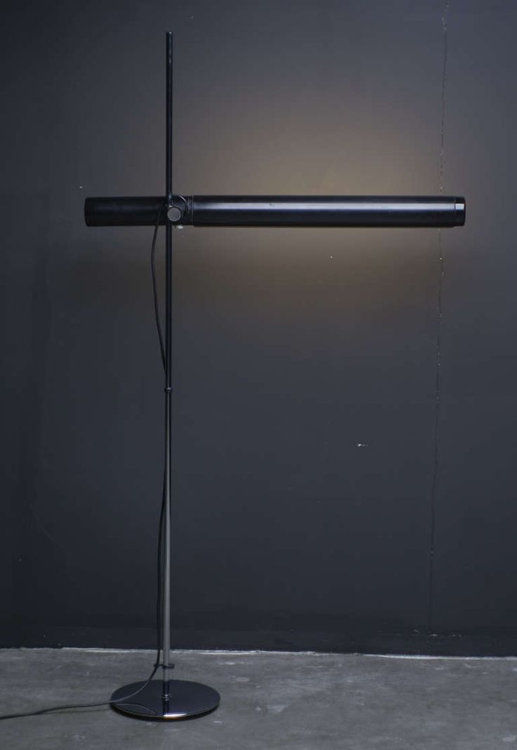 Dutch 1960's Industrial Fluorescent Tube Floor Lamp | From a unique collection of antique and modern floor lamps at https://www.1stdibs.com/furniture/lighting/floor-lamps/