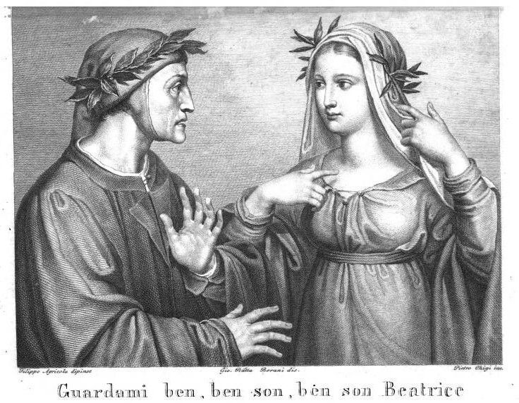 Image result for beatrice divine comedy