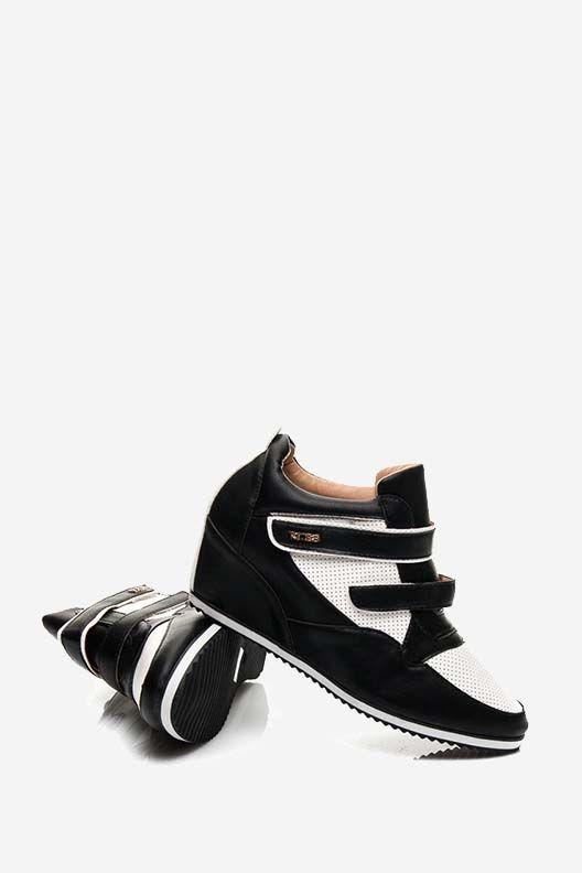 Trampki sneakersy na rzepy czarne