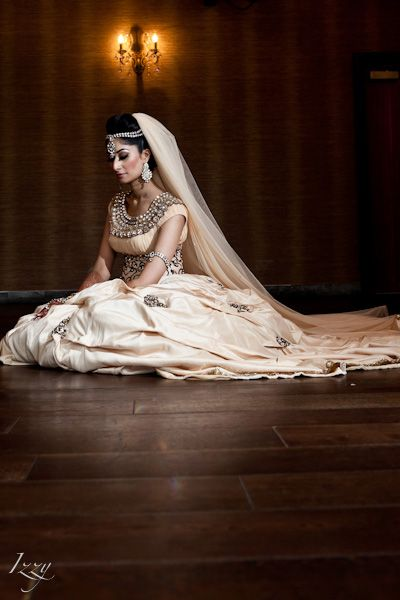 Champagne Lengha...in love!!!! see more inspiration @ http://www.ModernRani.com