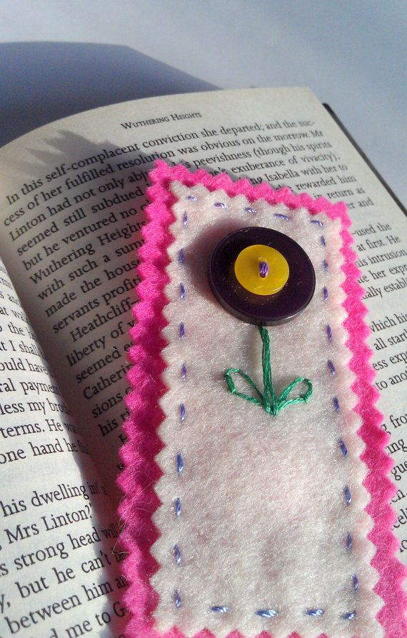 Handmade bookmark book lover gift flower by PatricksPieces on Etsy
