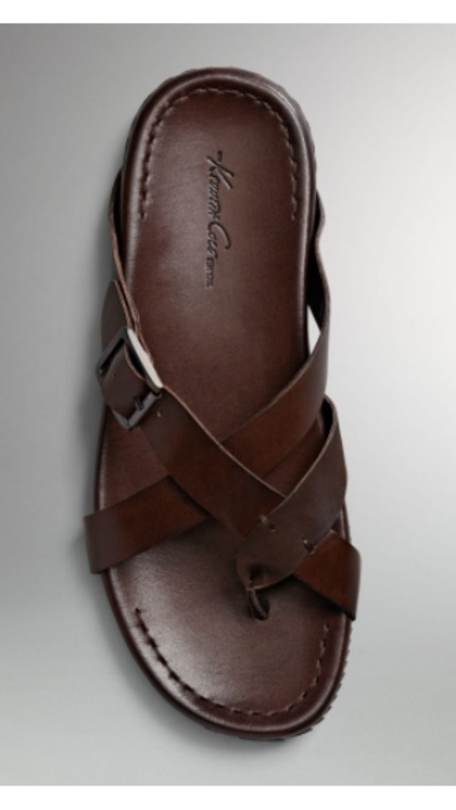 Kenneth Cole New York ~ Men's Sail Breeze Sandals (brown leather)