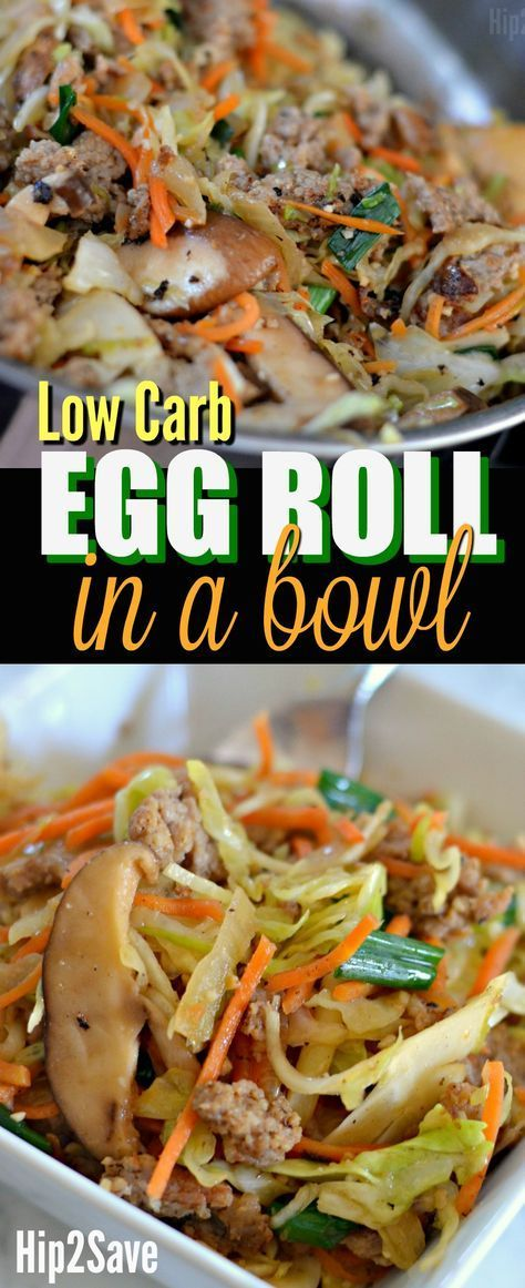 Try this easy to make Egg Roll in a Bowl recipe for a delicious Low Carb meal that's both filling and healthy.