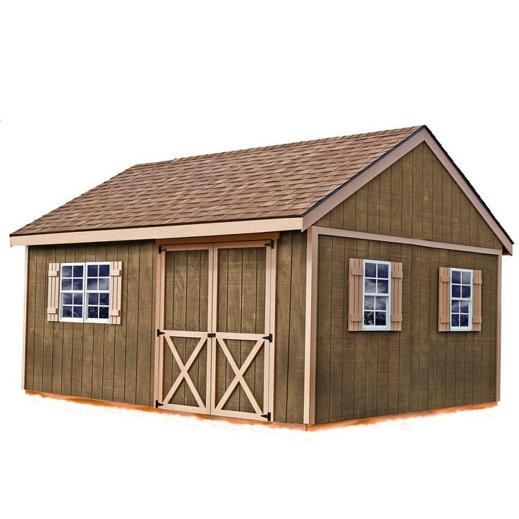 Best Barns New Castle 16 Ft. X 12 Ft. Wood Storage Shed Kit
