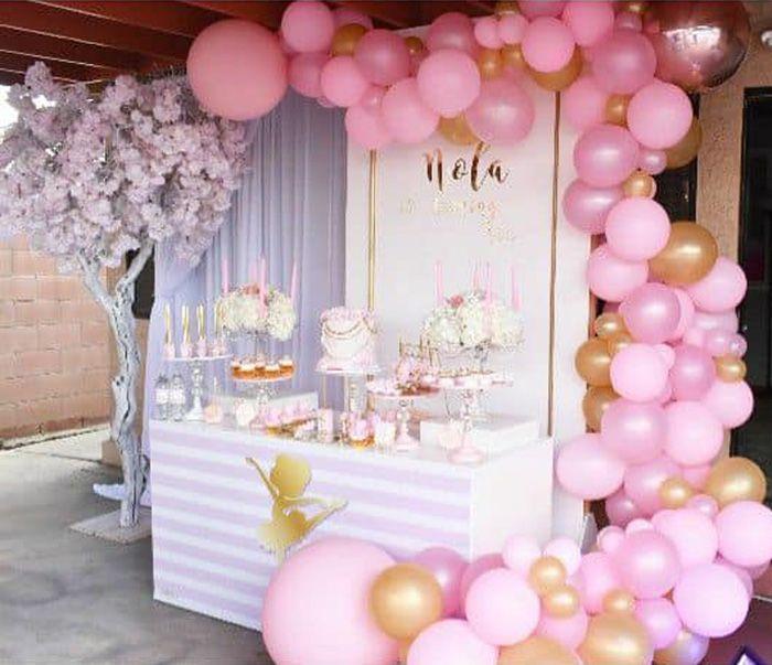Pink Ballerina Birthday Party On Kara S Party Ideas Karaspartyideas Com 1 Ballerina Birthday Party Decorations Ballerina Birthday Parties Ballerina Birthday
