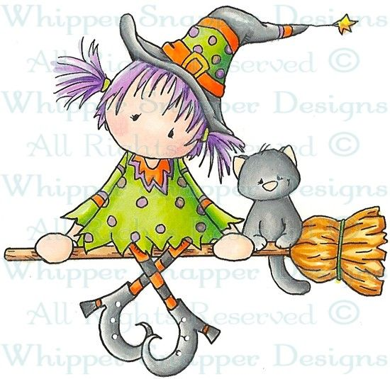 Broom Ride - Halloween Images - Halloween - Rubber Stamps - Shop