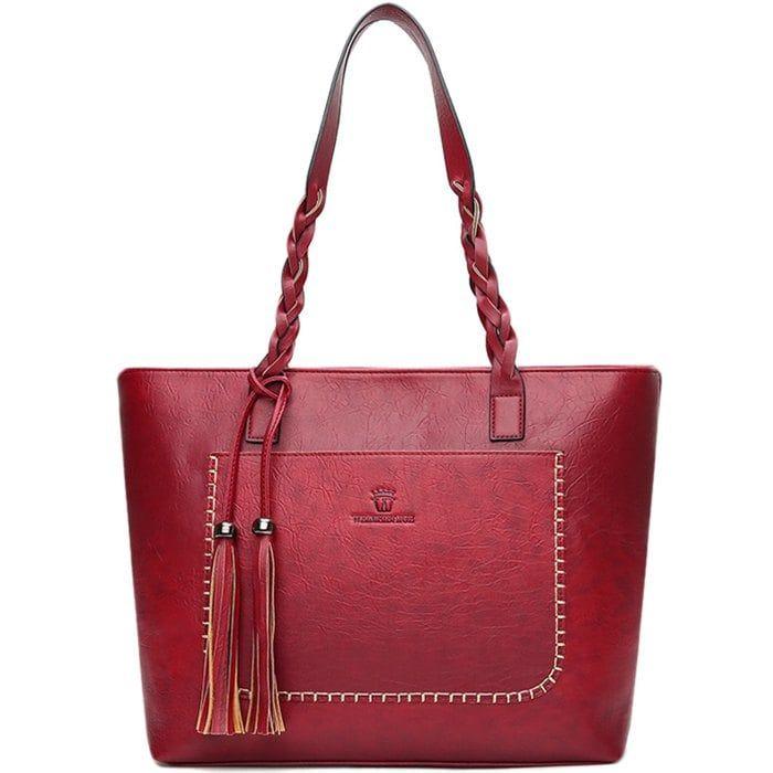 Fashion Portable Woven Tassel <b>Bag</b> Retro <b>Shoulder Bag</b> Ladies <b>Big</b> ...