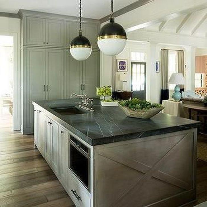47 Elegant Honed Black Granite Countertop Ideas For ...