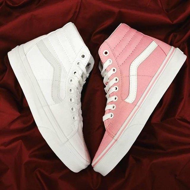 Vans Sk8 Hi Skate Shoe - Prism Pink in