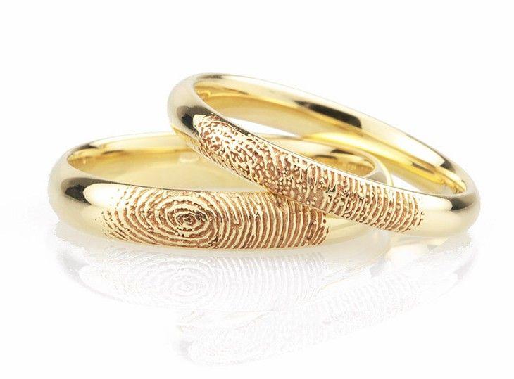 Superb Fingerprint wedding rings