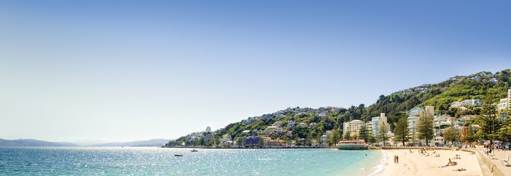 The golden sand beach at Oriental Bay is an awesome place to watch the world go by on a sunny day.