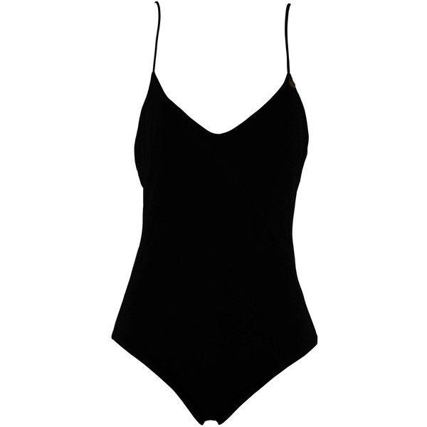 Black Bodysuit/Swimsuit (875 SEK) Liked On