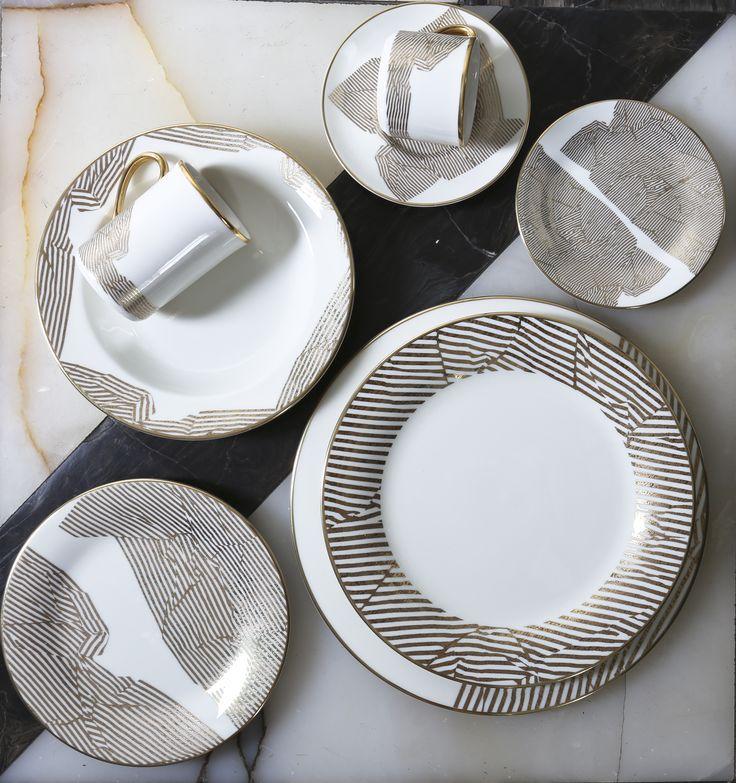 Bedford tea cup u0026 saucer set & 94 best Dinnerware images on Pinterest | Kelly wearstler Dinner ...