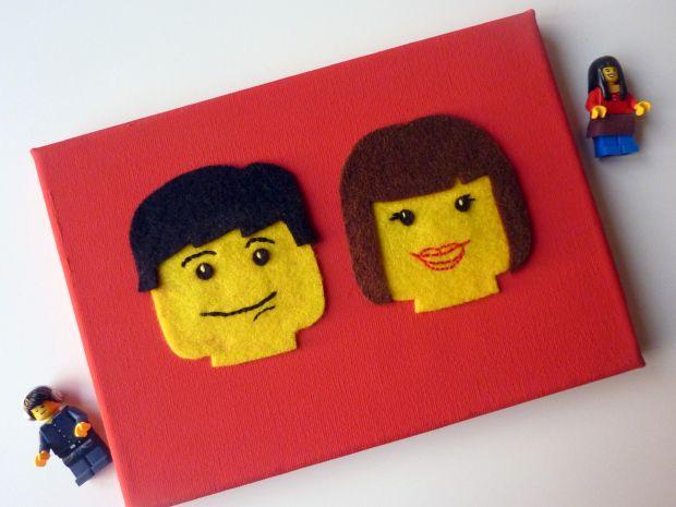 Handmade Lego Minifigure felt portrait - handmade Lego gift