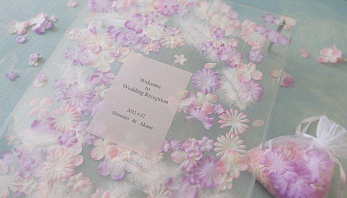 ウェルカムボード BB-HMB-4 flower bedフラワーベッドA3 完成品(ブルー) | 招待状、プチギフト、ウェルカムボードの通販・販売 ブライダルボックス オンラインショップ
