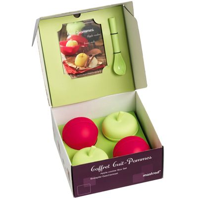 Mastrad Apple Cooker Gift Set - 4 Cookers, Corer & Recipe Book [ F71165 ]