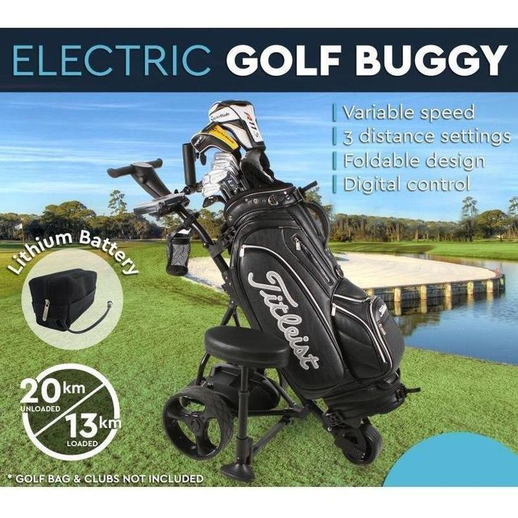 Electric Golf Buggy with Lithium Battery in Black | Buy Golf Buggies
