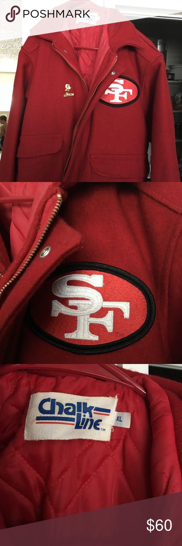 Wool San Francisco 49ers jacket Men's XL red wool San Francisco 49er jacket, excellent condition. Jackets & Coats