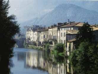 Quillan, France. quillan aude river