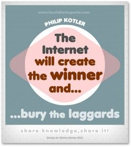 "Philip Kotler – ""The internet will create the winner and bury the laggards ."""