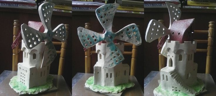 windmill by wyrm27 #windmill #fantasy #house #castle #tower #ceramic #clay #tealightholder #miniature