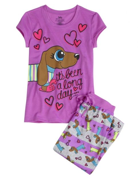 Dog Capri Pajama Set | Girls Pajamas Clothes | Shop Justice