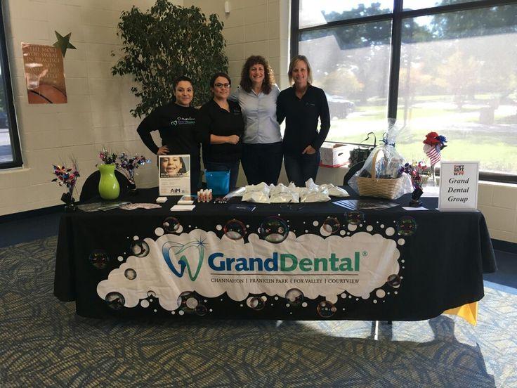 Our Grand Dental - Aurora team at the Fox Valley Health Fair. #dentalhygienemonth