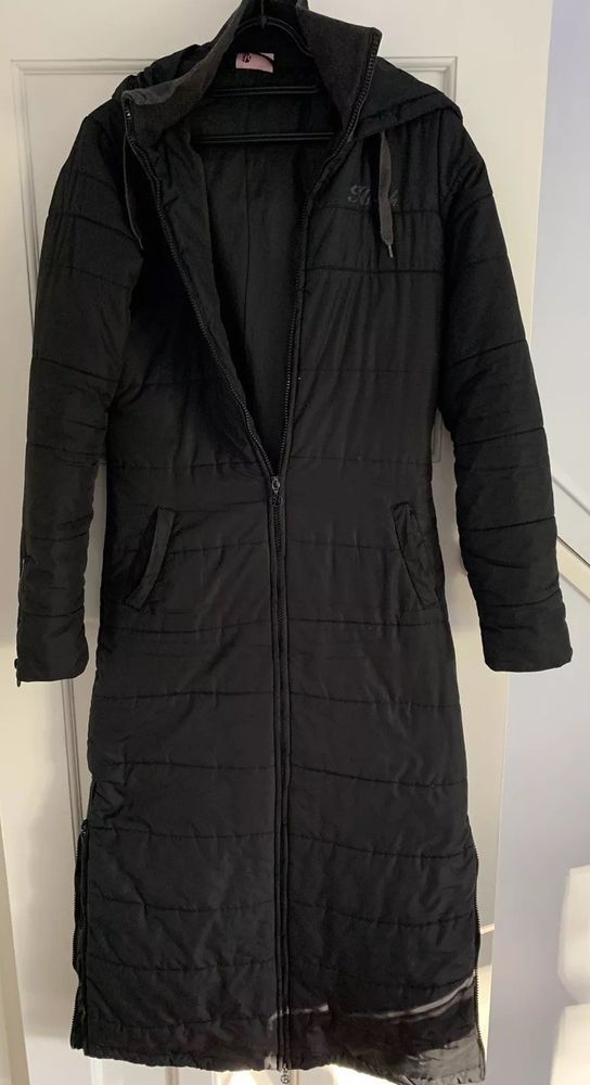 Hooch Black Long Coat Size 8  fashion  clothing  shoes  accessories   womensclothing  coatsjacketsvests (ebay link) b33a8e35e