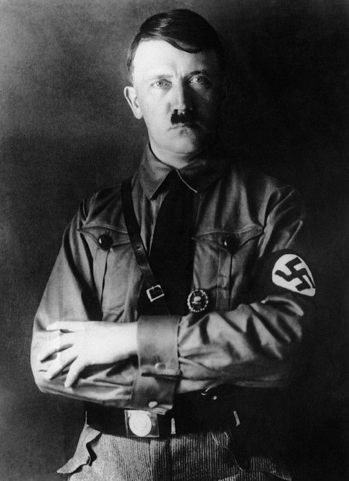 Adolf Hitler, 1933. Man responsible for killing millions of Jews and other minorities out of hatred and discrimination.