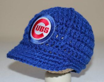 Crocheted Chicago Cubs Hat by BARTYyarn on Etsy