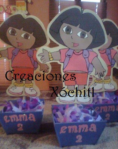 centro de mesa de Dora la explortadora