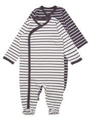 FOOTED JERSEY NIGHT PLAYSUIT with strips!