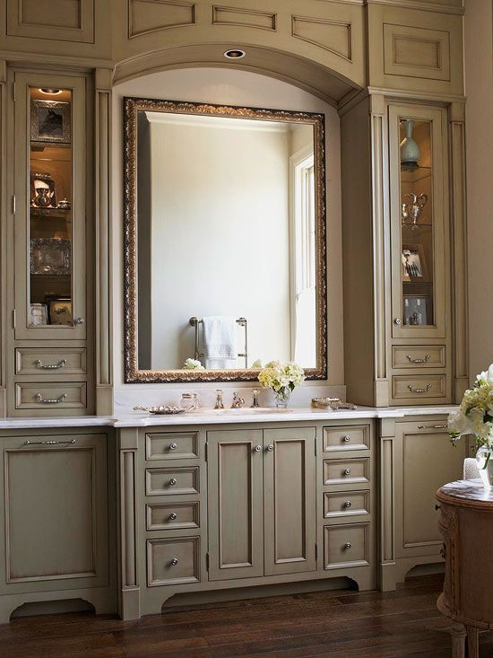 114 best images about gorgeous greige on pinterest - Beautiful bathroom vanity furniture ...