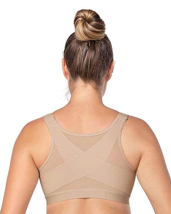 2a5b9df71ff93 Leonisa Women s Posture Corrector Wireless Back Support Bra ...