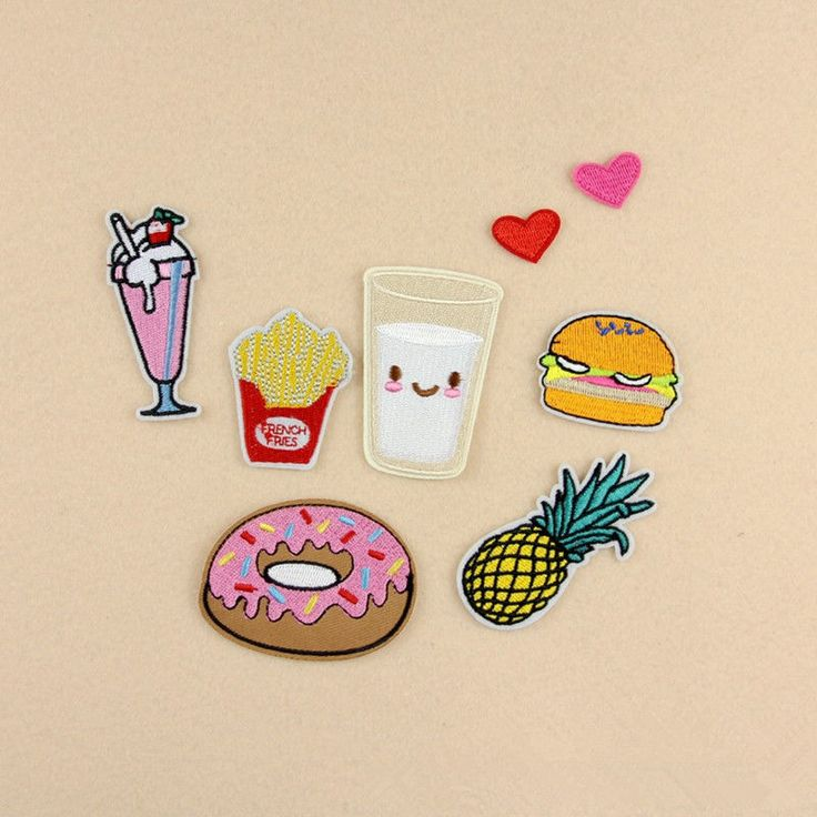 8Pcs Embroidery Donuts Fruit Sew Iron On Patch Badge Bag Clothes Fabric Applique | eBay
