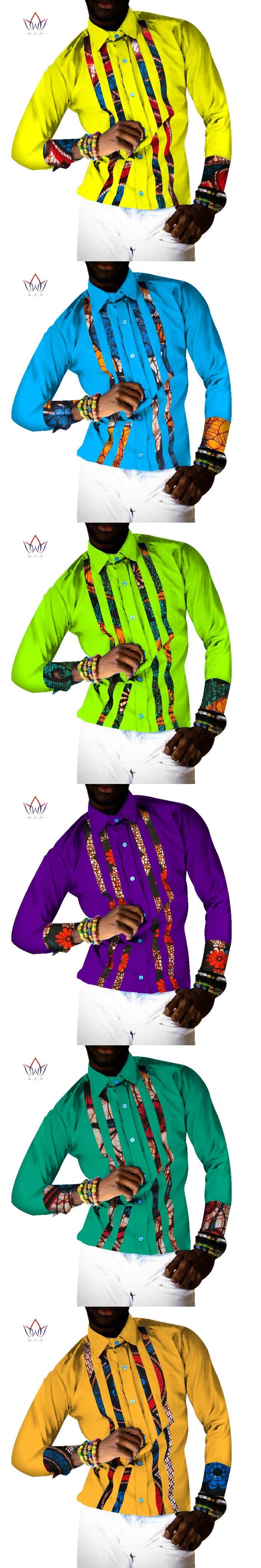 BRW 2017 Fashion African Shirt For Men Dashiki Long Sleeve Top African Clothing Bazin Free Shipping Blazer Men Outfits WYN343