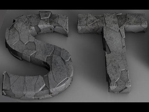 Cinema 4d Stone Text Tutorial