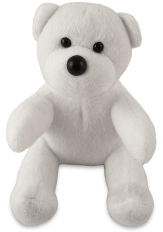 Wholesale Teddy Bear White Plush Stuffed Animal Toy (Case of 24)