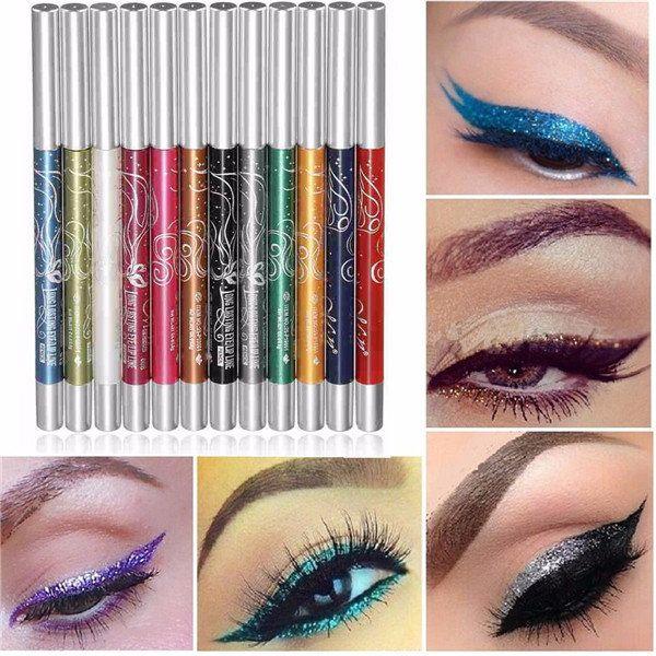 12 Colors Makeup Eye Shadow Eyeliner Lip Liner Pen Beauty Tool Set Kit - US$8.59